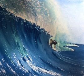 Surfer Crouching