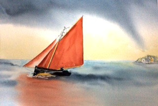 Galway Bay Hooker In A Storm