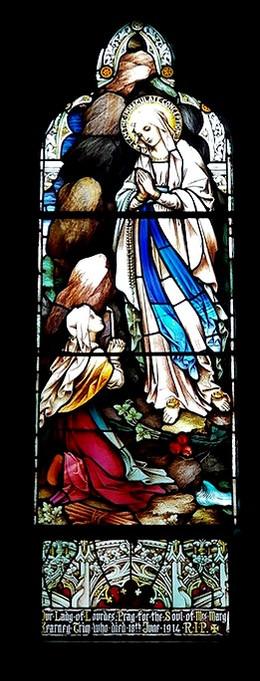 Saint Anthony Stain Glass Window