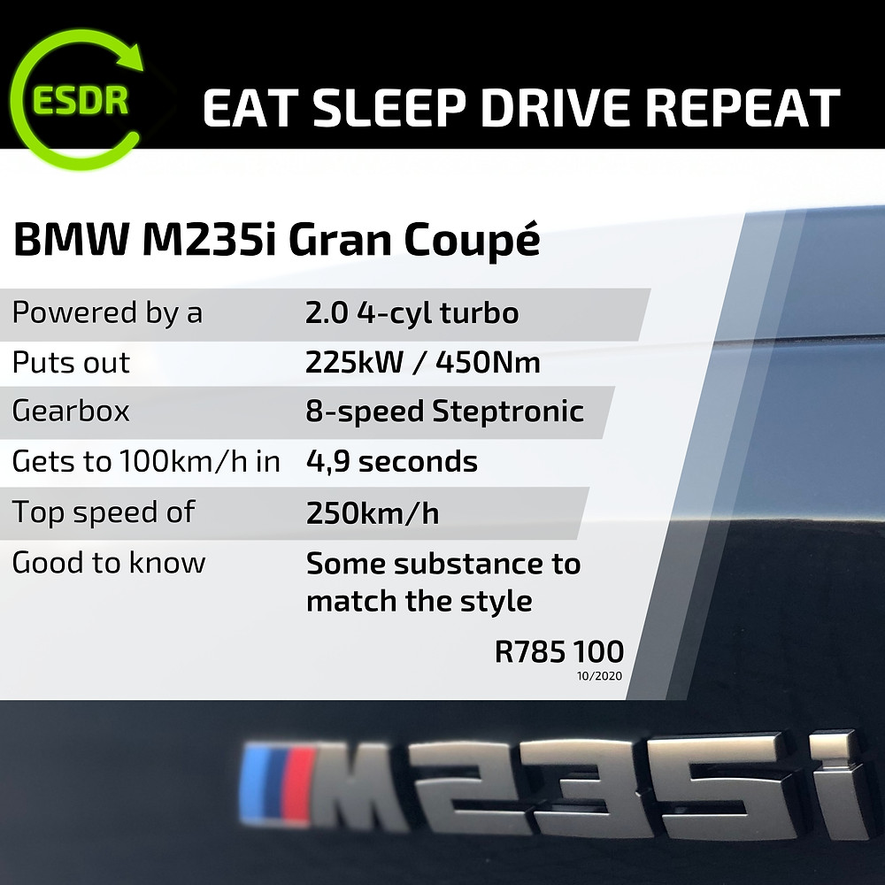 BMW 2 Series M235i Gran Coup spec and price