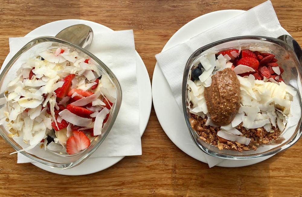Cloud Gallery acai bowl and parfait
