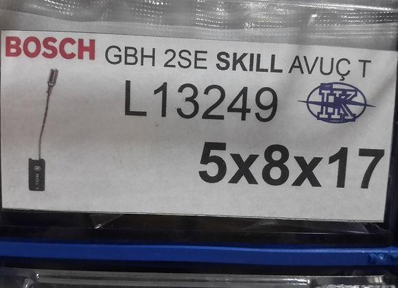 bsh gbh 2se skıll avuç taşlama kömür 5x8x17 adet