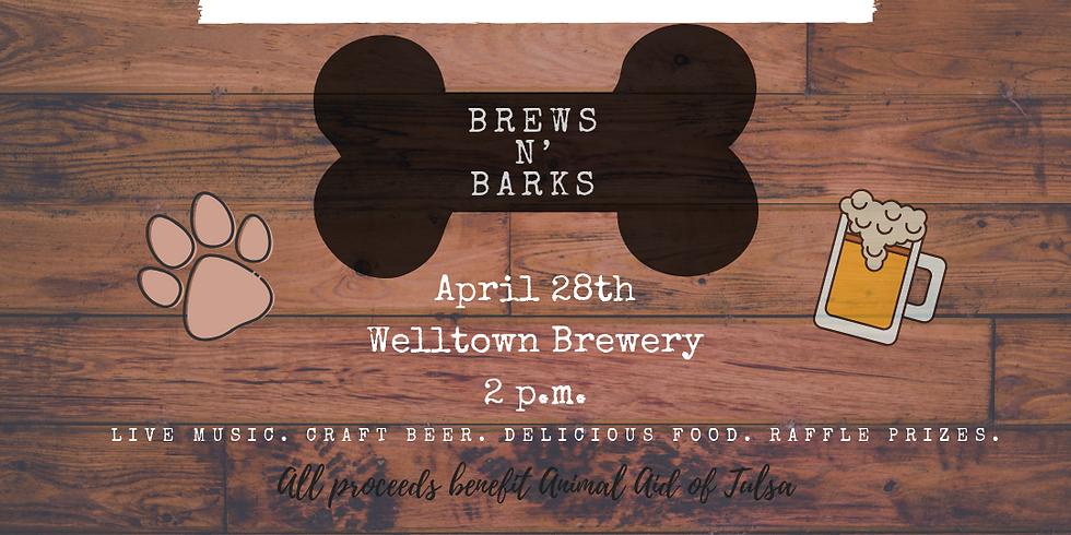 Brews N' Barks at Welltown Brewery