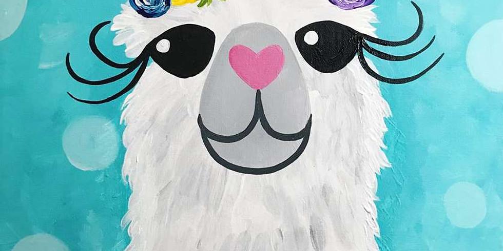 """Paint It Forward Fundraiser """"Llama-rama"""""""