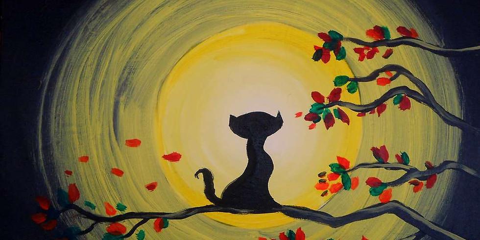 Painting It Forward - Moonlit Kitty