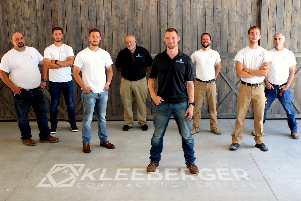 Kleeberger Contracting Services team posing for a picture