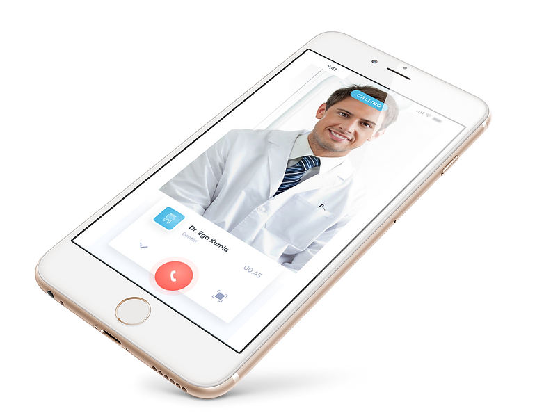 Dentist calling app screen