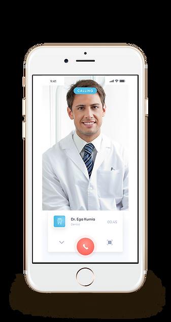 Calling screen of iPhone app