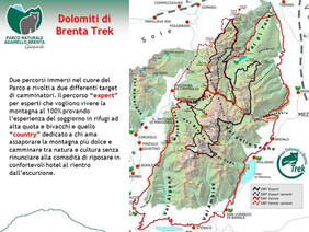 Dolomiti Brenta Treck: 10 tappe, 96 km di sentieri lungo tutto il gruppo dolomitico del Brenta