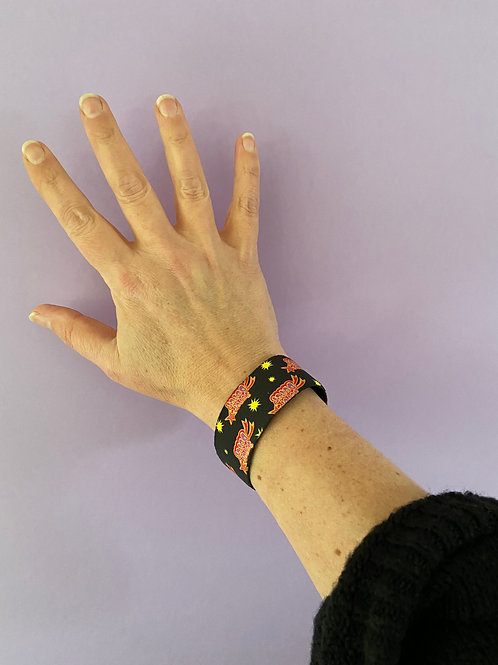 Super Duper Pink Wristband Bracelet