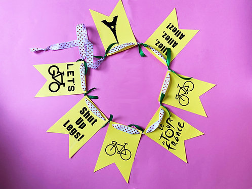 Tour de France Cardboard Bunting Garland Cycling Party Decoration