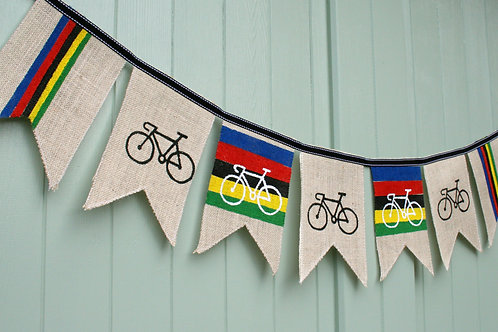 Cycling UCI Bunting garland. Union Cycliste Internationale Made to order
