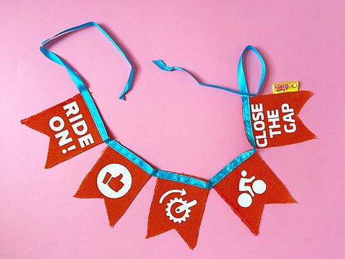 Cycling Pain Cave Bunting Decoration