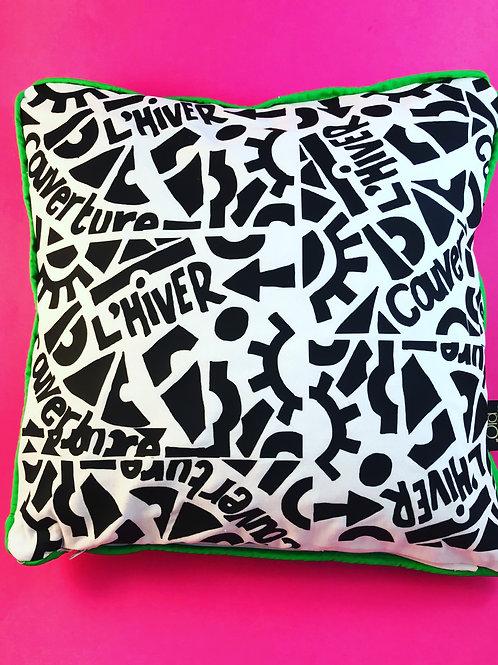 Abstract Cushion Sofa Cushion French Black and White Cushion
