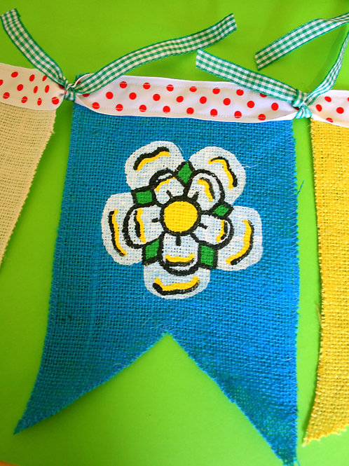 Cycle Gift Yorkshire Bunting Garland Decoration Cycle Tour