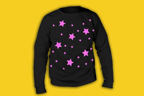 Star Print Sweater Jumper Different Colours