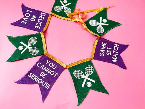 Tennis Gift Wimbledon Bunting Garland Decoration
