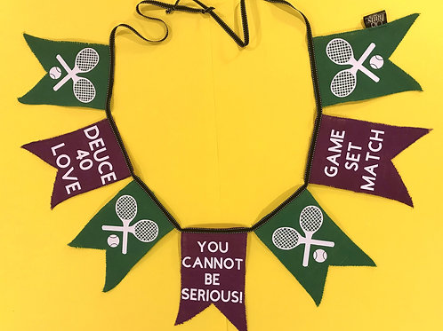 Tennis Gift Wimbledon Bunting Garland Decoration