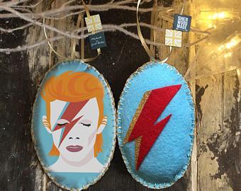 David Bowie Tree Decoration
