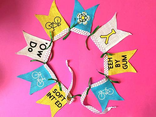 Cycle Gift Yorkshire Bunting Garland Decoration Tour de Yorkshire Tour de France