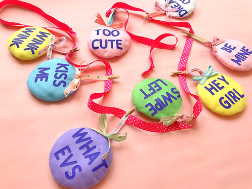 Love Hearts Gift Sweets Bunting Garland Decoration Wedding Valentines
