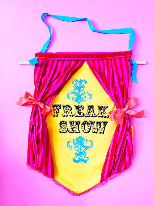 Freak Show Print Fabric A2 size Wall Hanging
