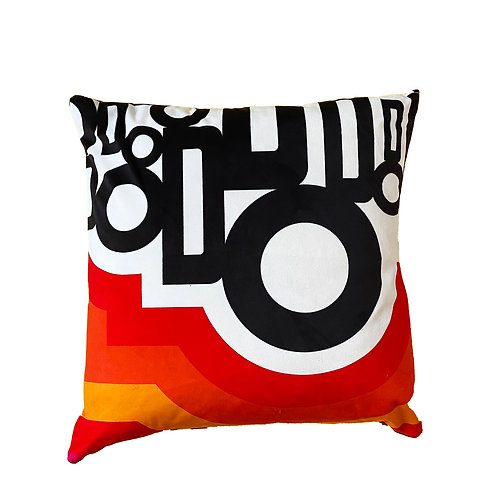 Retro inspired cushion pillow sofa 'Do' design Sixties