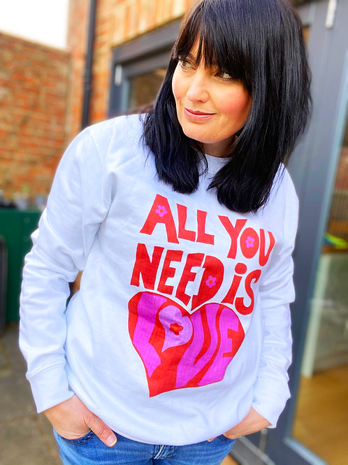 All You Need is Love Valentines Unisex Sweater Jumper