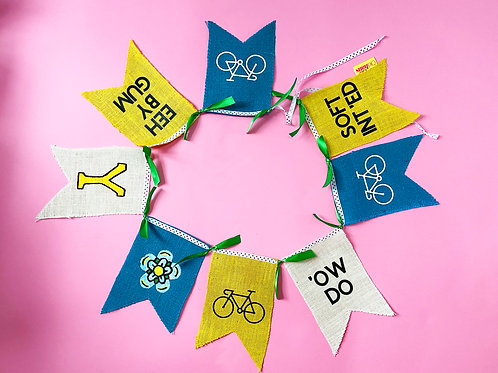 Tour De Yorkshire Bunting Garland Decoration