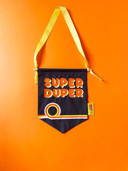 SUPER DUPER Retro Wall Banner
