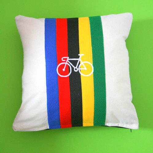 Cycling Gift Cushion Pillow Applique and print cushion made to ord