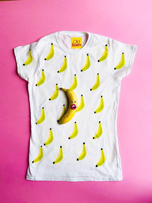 Banana Mad T shirt handprinted to order