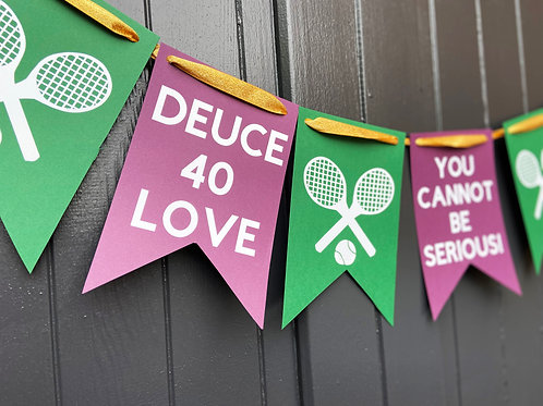 Wimbledon Cardboard Bunting Party Decoration Garland