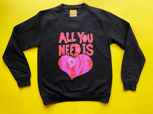 Beatles All You Need is Love Valentines Unisex Sweater Jumper