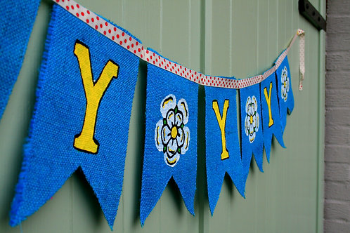 Yorkshire Decoration Bunting - handmade to order