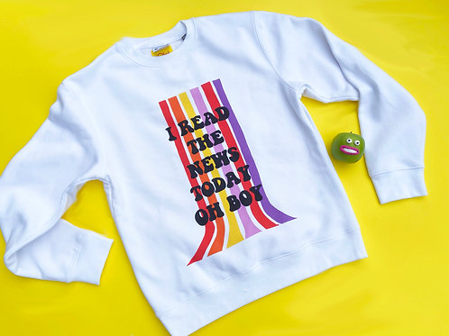 Beatles I read The News Today Oh Boy Jumper sweater