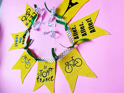 Le Tour de France Party Bunting Garland Cycling Party Decoration Gym Decor Cycle