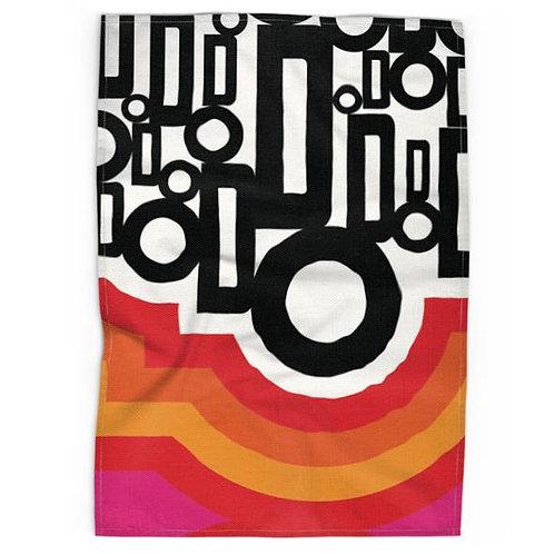 Retro Sixties inspired Tea towel
