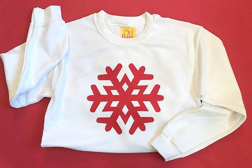 Snowflake Christmas Sweater Boyfriend Fit