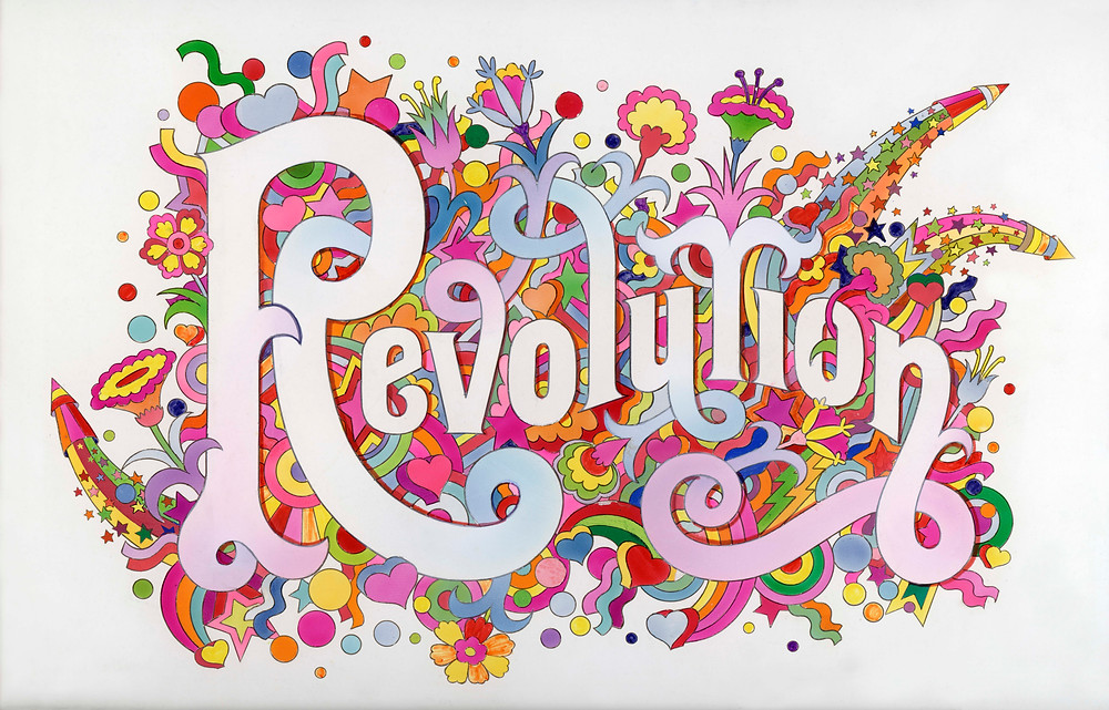 The Beatles Illustrated Lyrics, 'Revolution' 1968 by Alan Aldridge © Victoria and Albert Museum, London