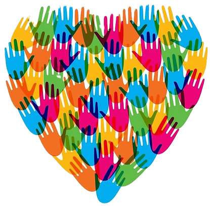 Philanthropy heart and hands