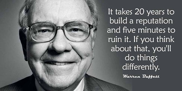 Warren Buffet Reputation Quote for CSR p