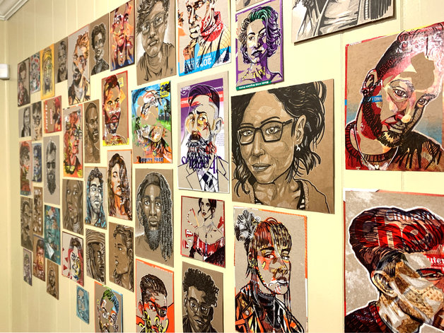 Covid Recycled Portraits 2