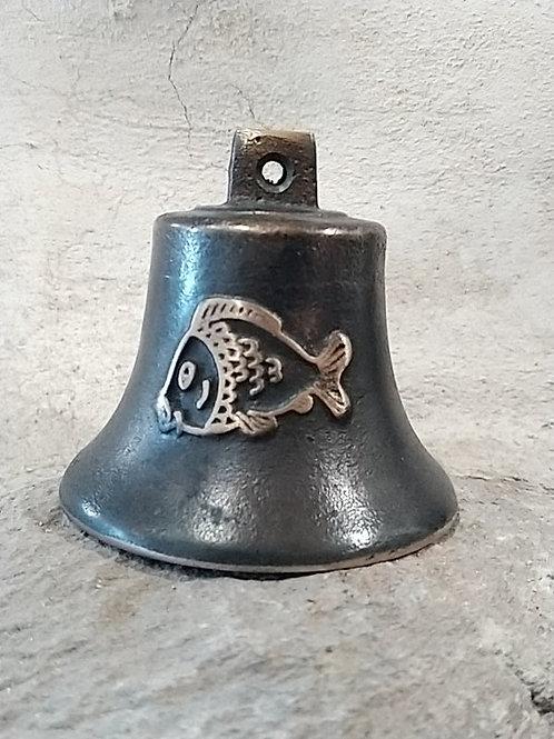 Zvonek Ital malý s reliéfem ryby, Ø65mm