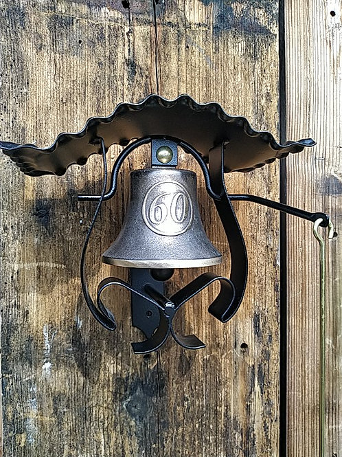 """Zvonice kudrnatá s reliéfem """"60"""", Ø90mm"""