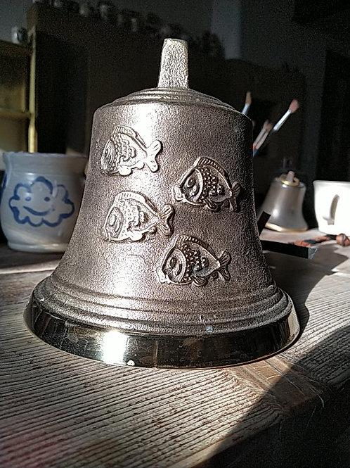 Zvon typ U s reliéfem ryb, Ø14cm
