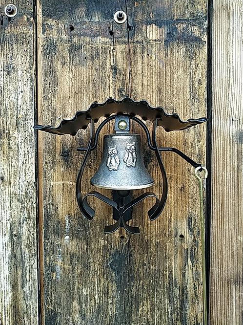 Zvonice kudrnatá s reliéfem sov, Ø90mm
