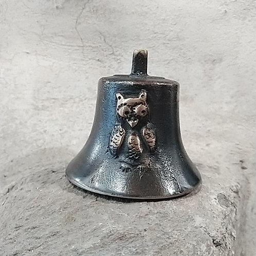 Zvonek Ital malý s reliéfem sovy, Ø65mm