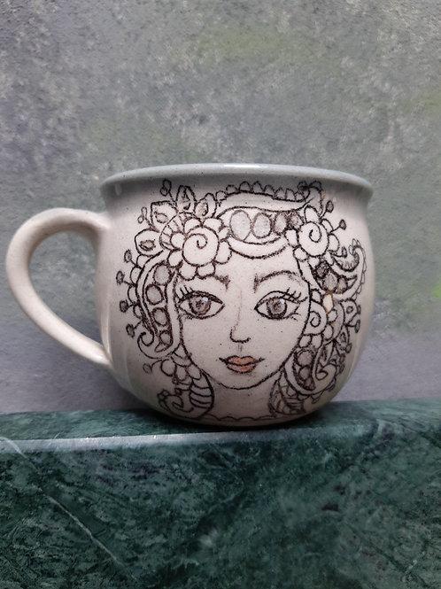 Porcelánový s kresbou