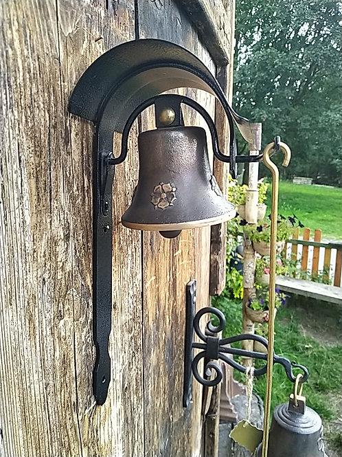 Zvonice boční s reliéfem pětilisté růže, Ø90mm